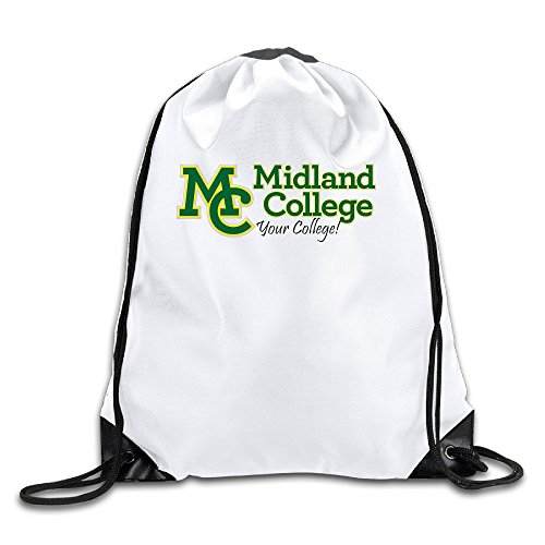 Price comparison product image Midland College1 Lightweight Drawstring Gift Bags Backpack White Size One Size