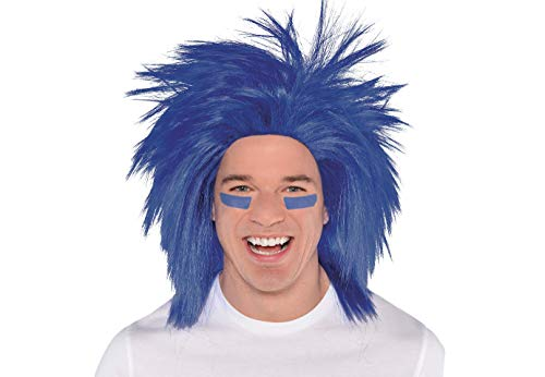 (Amscan 395943.22 Crazy Wig Costume Accessories, Blue, One Size)
