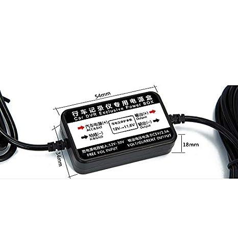 Yakola Hardwire Kit DVR Exklusive Power Box f/ür DashCam Auto Kamera OBD Power Mini Sicherungsadapter 12V-5A nur f/ür Y6 Dash Cams Kfz Kameras /…
