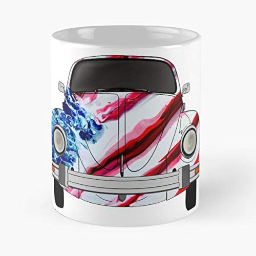 Vw Beetle Bug - 11 Oz Coffee Mugs Unique Ceramic Novelty Cup, The Best Gift For ()