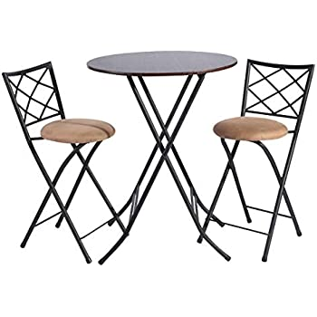 Amazon Com Framodo 3 Piece Folding Counter Height Pub