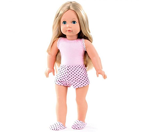 "Gotz Precious Day Jessica to Dress Blonde 18"" Doll with Blue Sleeping Eyes"
