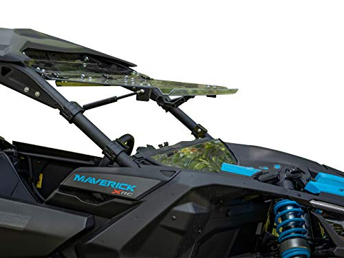 - SuperATV Heavy Duty Scratch Resistant Flip Windshield for Can-Am Maverick X3 900 / Turbo/X RS/X DS/X MR/MAX (2017+) - Can Be Set To 3 Different Positions!