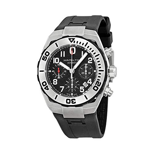 Chrono Rubber Strap (Hamilton Khaki Navy Sub Auto Chrono Men's Automatic Watch H78716333)