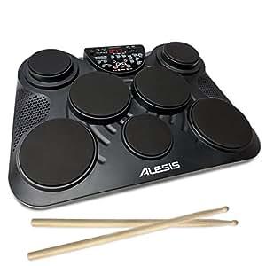 Alesis Compact Kit 7 - Batería electrónica de mesa con 7 pads sensibles a la intensidad, altavoces integrados y baquetas incluidas