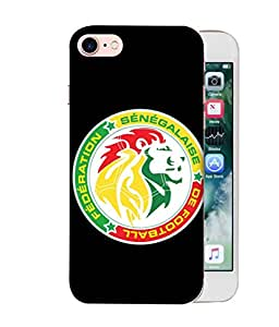 ColorKing Football Senegal 12 Black shell case cover for Apple iphone 8
