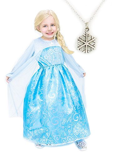 Ice Princess Costume with Snowflake Necklace (Large)