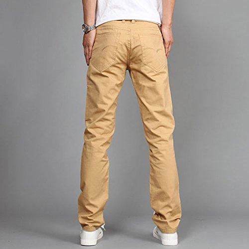 Miki Da New Design Casual Men pants Cotton Slim Pant Straight Trousers Fashion Business Solid Khaki Black Pants Men Plus Size 38