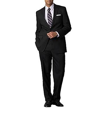 Calvin Klein Men's Modern Fit Solid Wool Suit