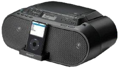 Sony ZS-S2iP CD Boombox with iPod Dock, Black by Sony