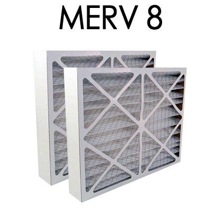 Air Bear 20x25x5 Furnace Compatible Filter MERV 8 2 Pack