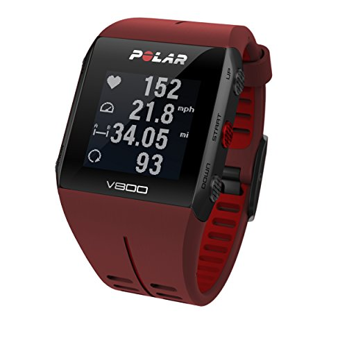 Polar V800 GPS Sports Watch Heart Rate Monitor, Red