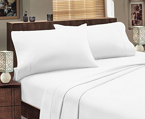 Best Prices! Mayfair Linen 100% Egyptian Cotton Sheets,4 Piece Sheets Set, 800 Thread Count Long Sta...