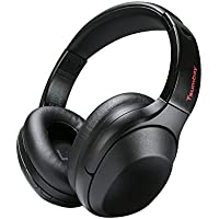 Wireless Headphone Active Noise Cancelling Bluetooth Headphones 30 Hours Playtime Tsumbay TS-BH05 with Mic, Lightweight Hi-Fi Deep Bass Over Ear, Wired Mode, for Travel Work TV Computer - Black