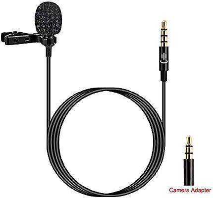 Micrófono de Solapa Lavalier de Grado Profesional con Sistema de ...