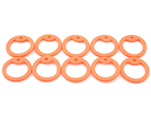 - Yippo Accessories Pack of 10 Orange Silicone Military Army Navy Air Force USMC Dog Tags Rubber Silencers