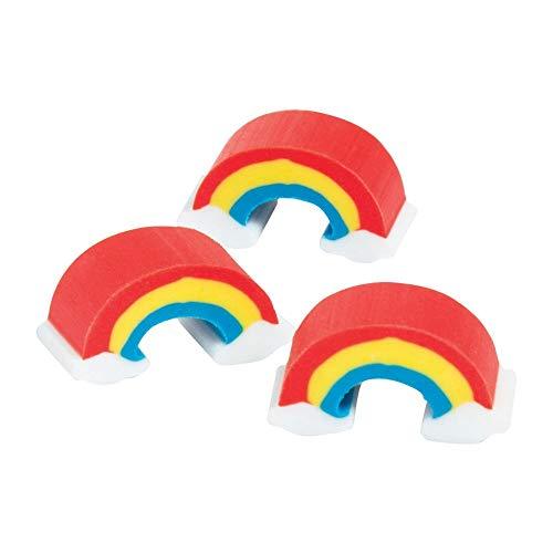 Fun Express Premium Kids Mini Rainbow Erasers 300 pieces