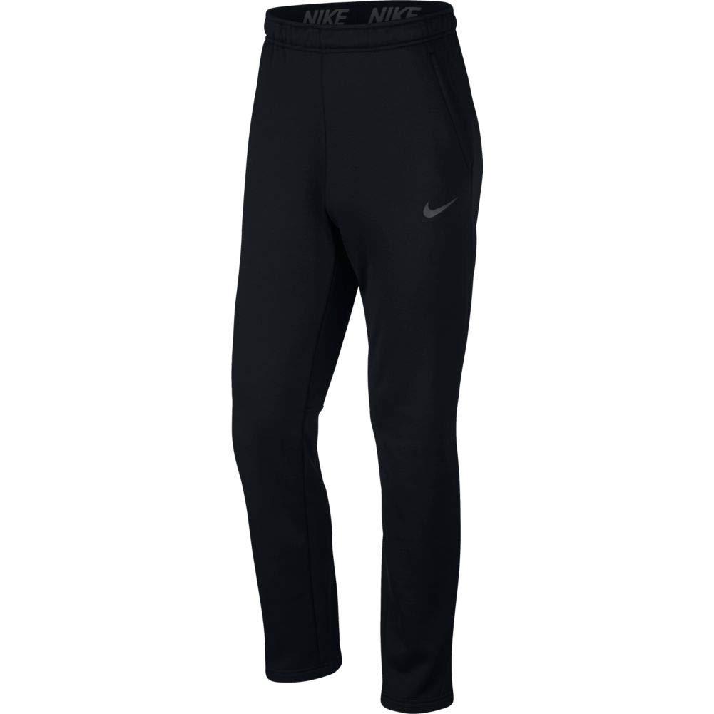 Nike Men's Therma Training Pants (Small, Black/MTLC Hematite)