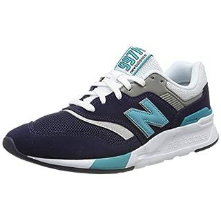New Balance Men's 997H V1 Sneaker, Pigment/neon Aqua Blue, 10.5 D US