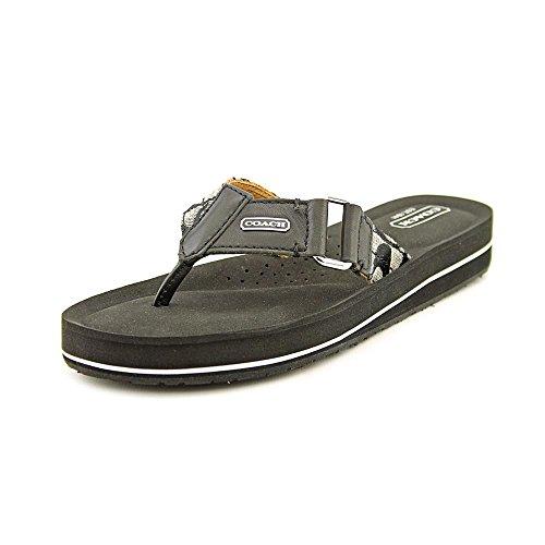 Coach Women Leather Black Sandal