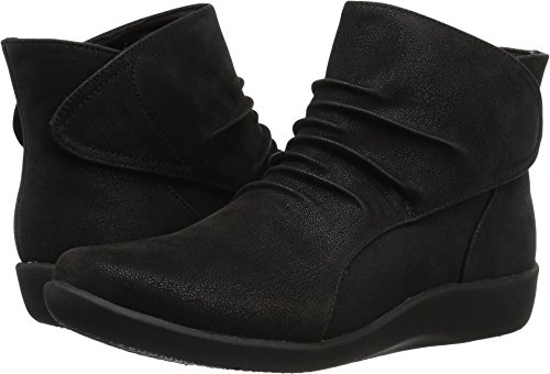 CLARKS Women's Sillian Sway Ankle Bootie, Black, 9 M US