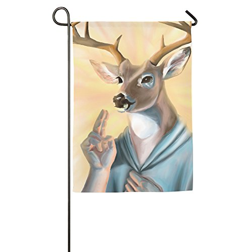 Deer Gives Thanks For Food Polyester Home Garden Flag - Ironman Equipment List