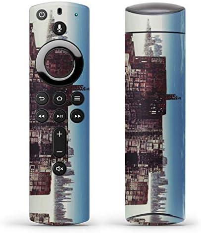 igsticker Fire TV Stick 第2世代 専用 リモコン用 全面 スキンシール フル 背面 側面 正面 ステッカー ケース 保護シール 014980 景色 自然 風景 イラスト 雲