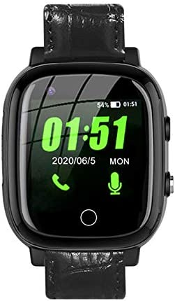 4G Smart Watch,Smartwatch Phone Watch w Blood Pressure & Heart Rate Monitor,Thermometer,GPS,Fitness Tracker,Pedometer,IP67 Waterproof,Smart Watch for Seniors Men Women,Android iPhone iOS Compatible
