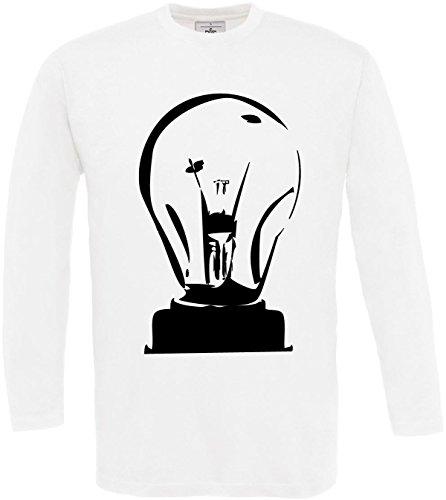 Lampadina S lunga Dicendo stampa Designer Statement 3xl manica Man fredda Bianco gulp shirt Idea T tY7S8x