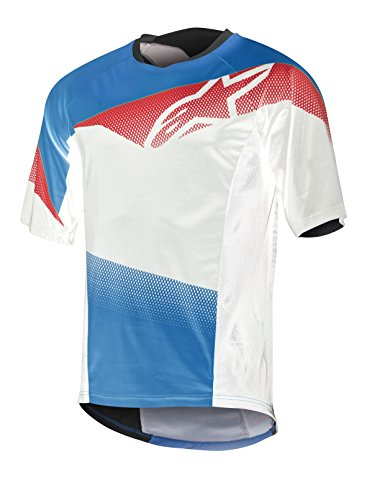 Alpinestars Men's Mesa Short Sleeve Jersey, Royal Blue/Red/White, XX-Large