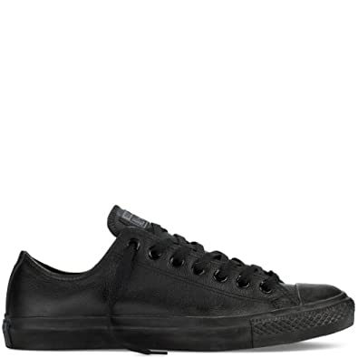 Womens Black Leather Converse Trainers