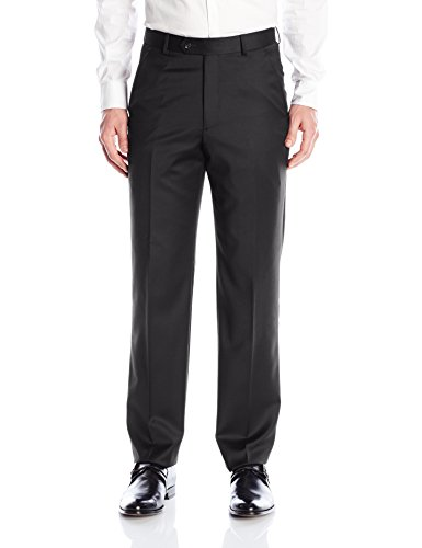 Tailored Worsted Wool Suit - Palm Beach Men's Cole Suit Seperate Pant, Black, 36W Regular