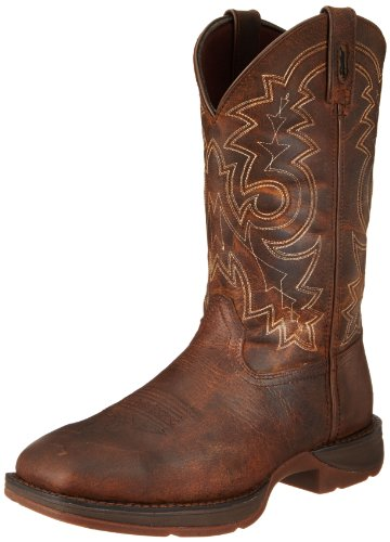 Durango Men's 11 Inch Pull-on Steel Toe DB4343 Western Boot,Brown,12 M US