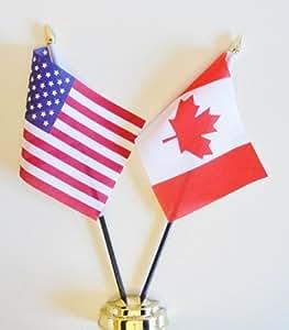 Estados Unidos y Canadá banderín Celloexpress amistad 25 cm