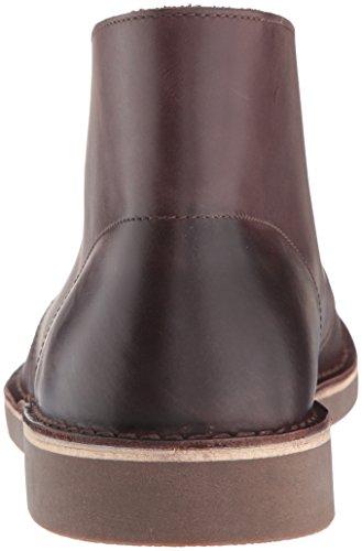 Clarks Mens Bushacre 2 Chukka Boots Mörkbrunt Läder