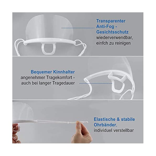 Anti-Fog-Visier-10-Stck-Safety-Transparent-Face-Shield-fr-Chef-Snack-Bar-Kitchen-Restaurant