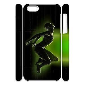 3D IPhone 5C Case, Cute Design Cheap Digital Case for IPhone 5C {White}