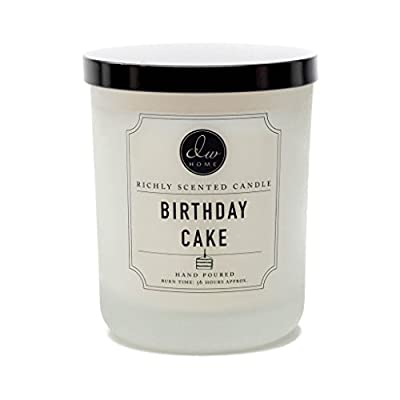 DW Home Decoware Richly Scented Candle Large Double wick 15oz --- Birthday Cake - Large Double Wick Candle Birthday Cake Scent Hand Poured - living-room-decor, living-room, candles - 41U8DMVzShL. SS400  -