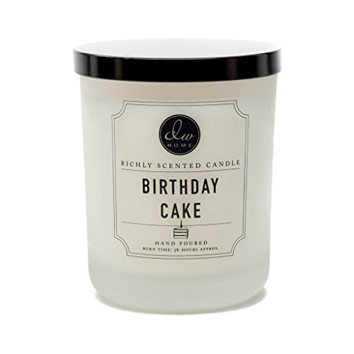 DW Home Decoware Richly Scented Candle Large Double wick 15oz --- Birthday Cake