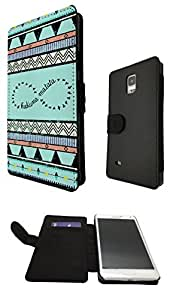 Samsung GALAXY S5 Mini Vintage Look Aztec Hakuna Matata infinity Designer Fashion Trend Full Case Book Style Flip cover Defender Credit Card Holder Pouch Case Cover iPhone Wallet Purse