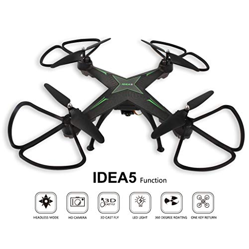 JonerytimeIDEA5 2.4G 4 Axis Gyro Quadcopter Hover HD RC Quadcopter Drone FPV RTF (Shadow Quick Mount)