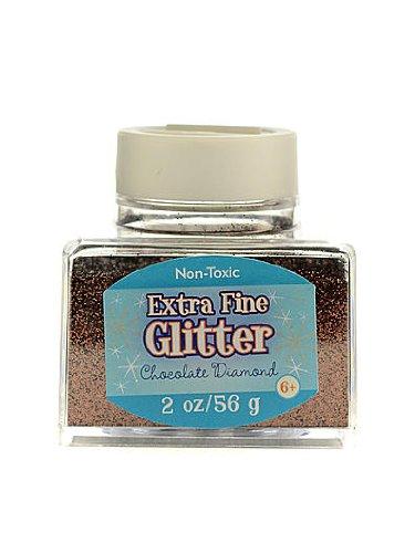 - Advantus Corp Extra Fine Glitter chocolate diamond 2 oz. stackable jar [PACK OF 4 ]