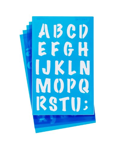 C-thru Lettering Stencil - Westcott LetterCraft Stencil, Marker Font, 3/4-Inch and 1-Inch Characters (SM134/15839)