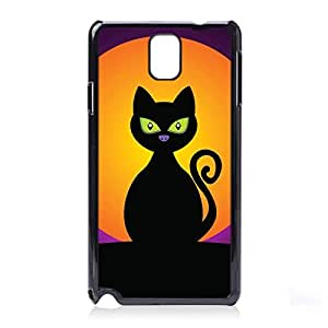 Case Fun Halloween Cat Snap-on Hard Back Case Cover for Samsung Galaxy Note 3 (N9000 N9002 N9005)