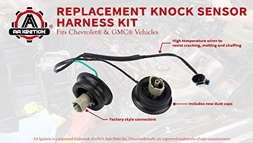 knock sensor wire harness kit replaces 12601822, 917-033 - fits chevy  suburban,