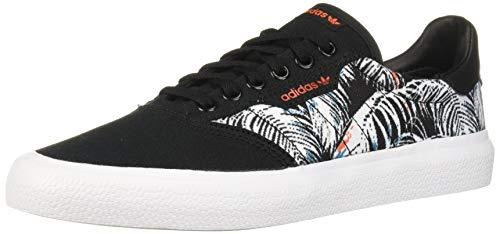 adidas Originals 3MC Sneaker, Black/White/Active Orange, 6.5 M US