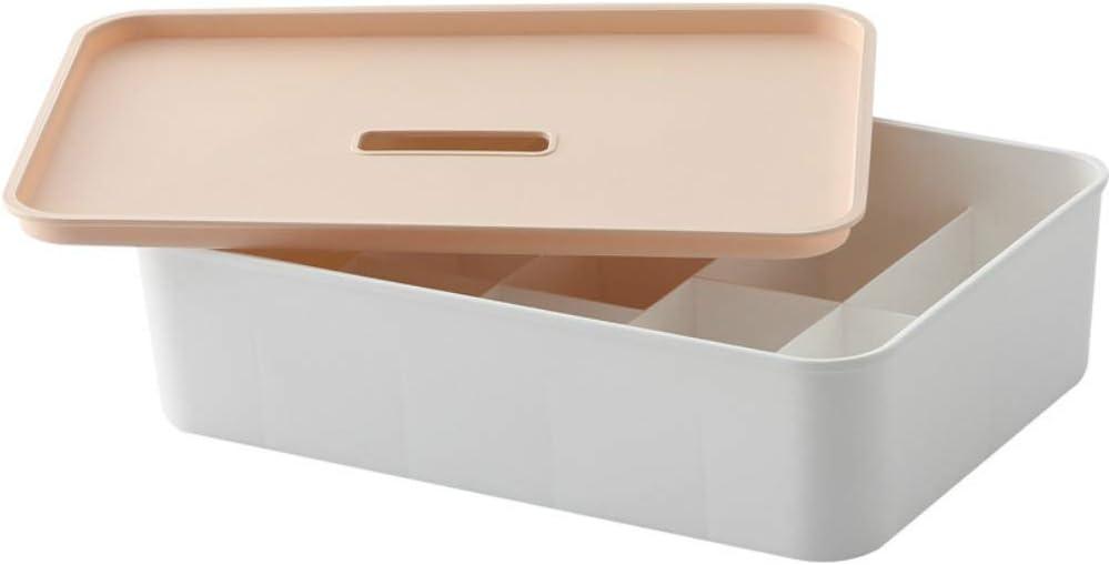 Caja de almacenamiento de ropa interior de compartimento doméstico de múltiples estándares con clasificación de tapa caja de almacenamiento de alimentos caja de acabado de armario de plástico