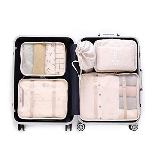 55efa2c503b5 OEE 6 pcs Luggage Packing Organizers Packing Cubes Set for Travel
