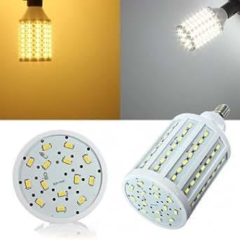 Souked E1425W blanco/cálido blanco 5630SMD 102LED maíz bombillas 110V–luz blanca cálida