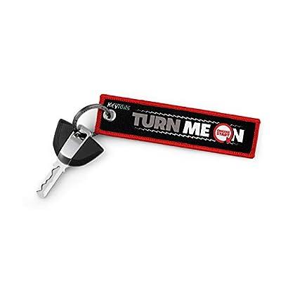 KEYTAILS Keychains, Premium Quality Key Tag for Motorcycle, Scooter, ATV, UTV [Turn Me On, Ride Me]: Automotive